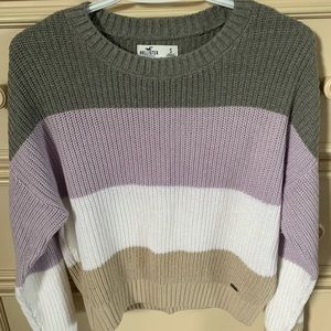 striped hollister sweater size small